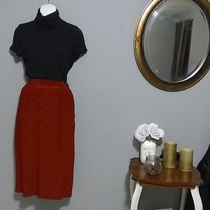 Argenti Vintage 100% Silk skirt  Size 8